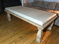 Kreiss Coffee Table. Good condition. Solid stone, Solid wood. Great piece. Chicago, 60647