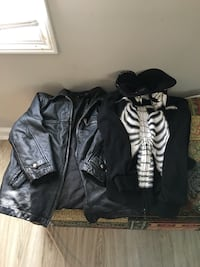 two black zip-up jackets