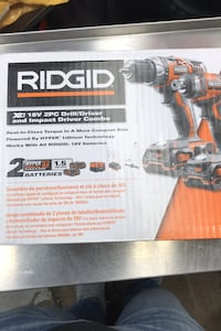 Ridgid Impact and Drill Combo with 2 batteries and charger  Toronto, M9L 2S2