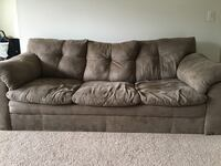 Brown suede couch like new used for only a year in a smoke free home Towson
