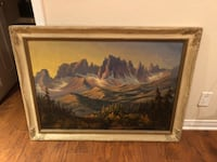 1940 Arnold Des Plantes Sierra Mountain Oil Painting  Los Angeles, 91423