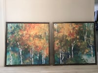 Two Beautiful Canvas Framed Art Pieces Miami, 33155