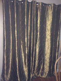 "2 shimmery green curtains 54""x 84"" Poughkeepsie, 12601"