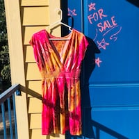 Women's red and yellow dress, M Huntsville, 77340