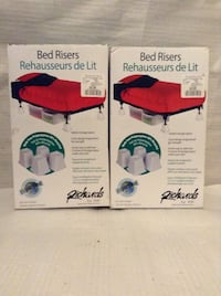 2 boxes of bed risers (4 per box) New and unused 5 Toronto, M6K 2E5