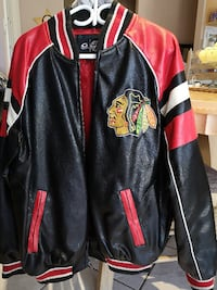 Chicago Blackhawks Leather-like Coat    Toronto