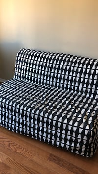 Black and white plaid fabric sofa Richmond Hill, L3T 7T6