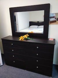 brown wooden dresser with mirror Lakewood, 90713