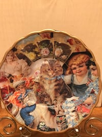Beautiful !!!!Vintage Victorian Collage display plate