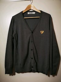 COMME DES GARCONS PLAY Cardigan with Gold Emblem Calgary, T2W 3L6