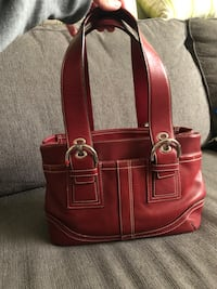 Coach red handbag  Calgary, T3K 5L6