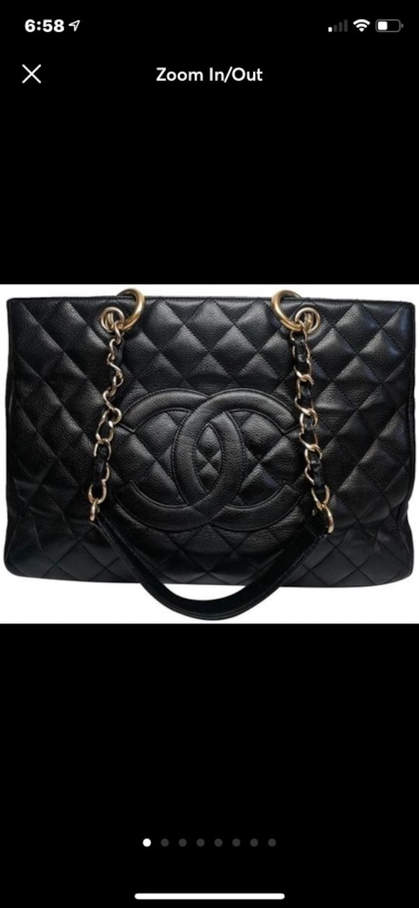8407d9dd2dbe Used quilted black Chanel leather shoulder bag for sale in Salinas - letgo