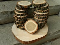 Wood coasters - rounds - centrepieces Toronto, M9B 4S8