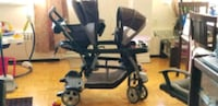 baby's black and gray tandem stroller 548 km