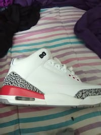 paired white and red Air Jordan 3 shoe Charlotte, 28273
