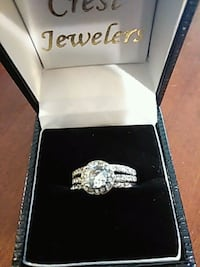 silver-colored clear gemstone encrusted ring Dallas, 30157