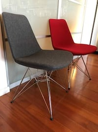 Wool and Chrome Eiffel Dining Chairs - $175 Each Surrey, V3S 8L9