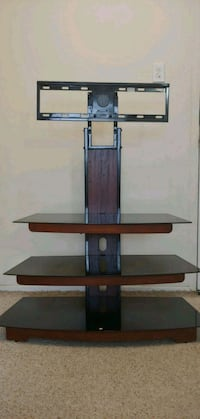 Beautiful wooden framed TV stand with swivel mount Cambridge, N1R 1L3