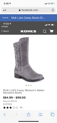 Muk Luks Casey Boots Gray Brand New with tags Women sz 8 Henderson, 89014