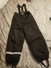 black and white work pants
