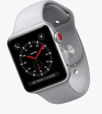 Series 3 silver aluminum case Apple Watch with gray sports band Riverside, 92503
