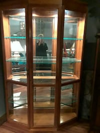 brown wooden framed glass display cabinet Buffalo, 14221