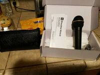 black electro-voice microphone in box