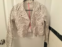 gray and white zebra print zip-up jacket Montréal, H2X