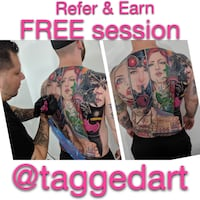 TATTOO ARTIST. Referrals specials . Vancouver