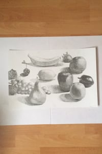 Assorted Fruit With Graphite