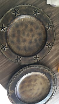 Western style plate chargers.10.00 each or (4) for $35.00 Arroyo Grande, 93420