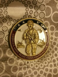 gold white blue and red soldier round decor Maryland, 20706