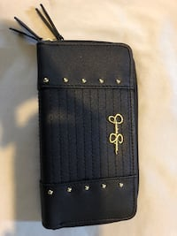 black leather Coach long wallet Paramount, 90723