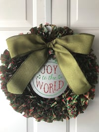 Handmade Joy to the World Rag Wreath Londonderry, 03053