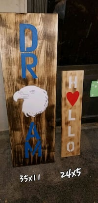 Hello / wall wood decor made millard  Douglas County