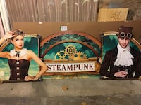 Steampunk Carboard sign from Spirit Halloween Shop Arlington Heights, 60004