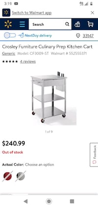 Like new stainless kitchen cart need gone paid over 350 for it