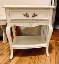 French Provincial White nightstand end table Rockville