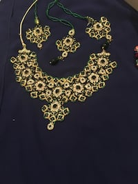 Bridal silver gold plated set