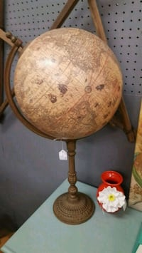 brown wooden base table lamp North Augusta