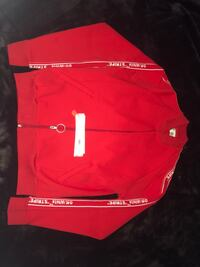 Off-white red zip-up jacket