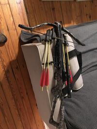 black and gray compound bow King George, 22485