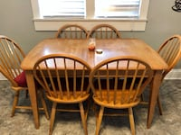 two brown wooden windsor chairs Eaton, 80615