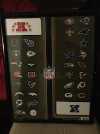 All NFL Teams poster frame included Portage, 49024