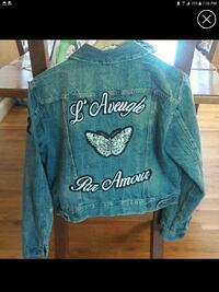Levis jacket with patches designer