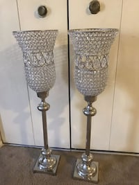 "New set of 2 large 37""tall crystal candle holder centerpiece inbox me pick up in Gaithersburg Maryland 20877 all sales final Gaithersburg, 20877"