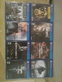 eight assorted PS4 game cases Sterling, 20164