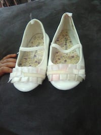 pair of white leather mary jane shoes Clarksville, 37042