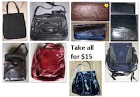 Bags and Purses - Various (Take all 9 Items for $15) Mississauga