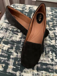 Clarks artisans black wedge